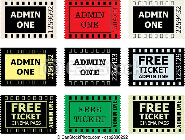 Admit One Cinema Ticket  - csp2836292
