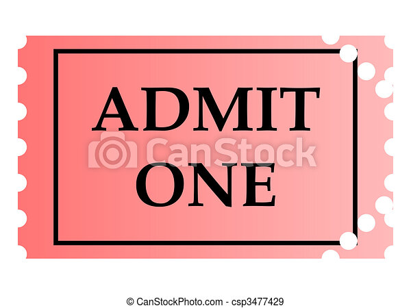 Admit one ticket. Admit one pink ticket template with copy... stock ...