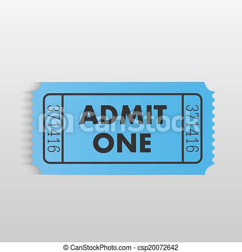 Admit One Ticket - csp20072642