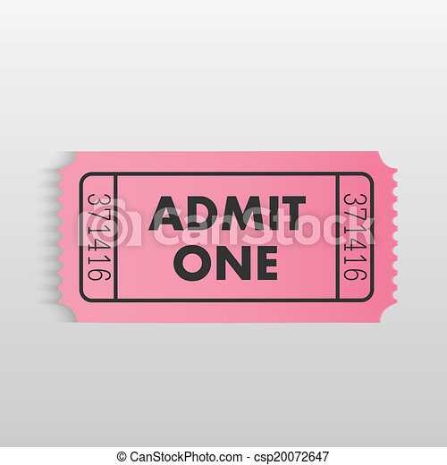 Admit One Ticket - csp20072647