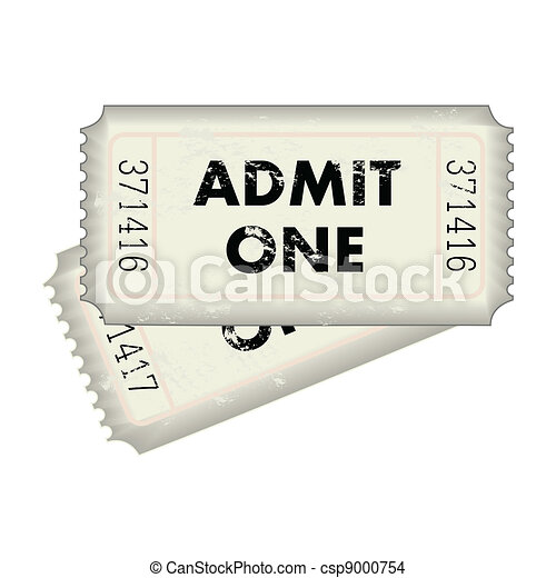 Admit One Ticket - csp9000754