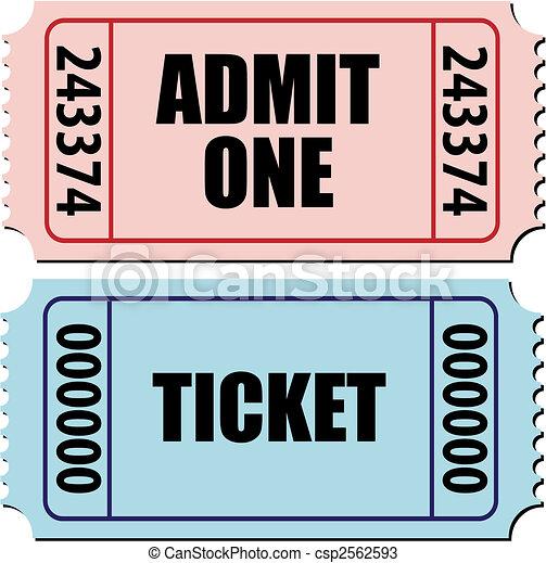 admit one ticket - csp2562593