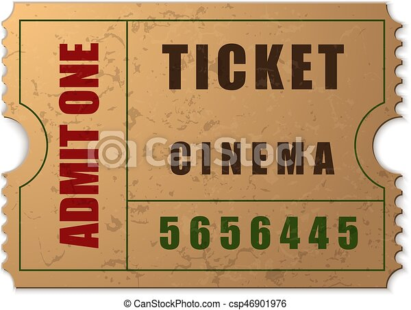 vector admit one ticket icon isolated