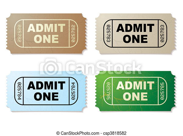 admit one ticket set - csp3818582