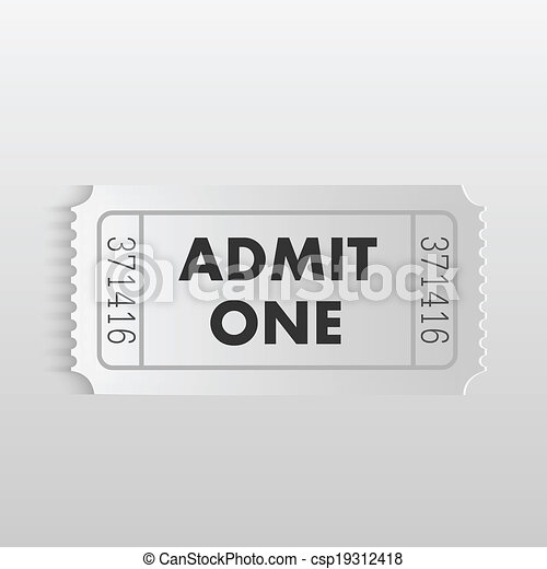 Admit One Ticket - csp19312418