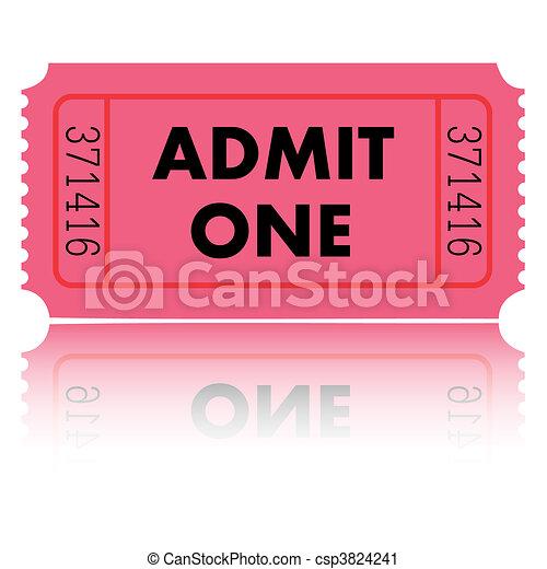 Admit One Ticket - csp3824241