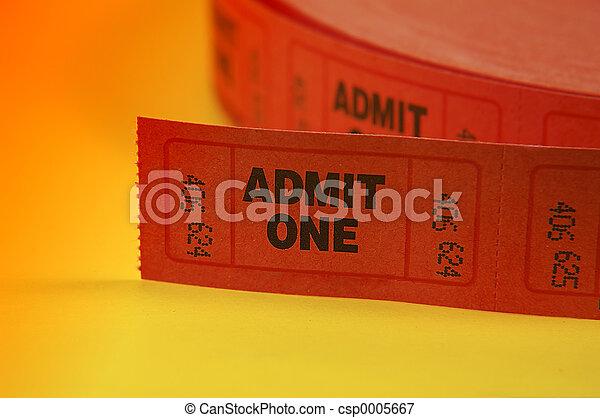 Admit One Tickets - csp0005667
