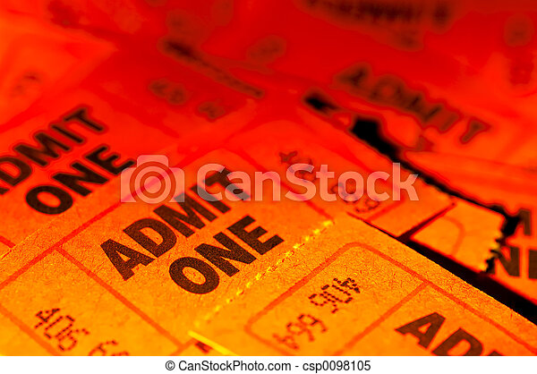 Admit One Tickets - csp0098105