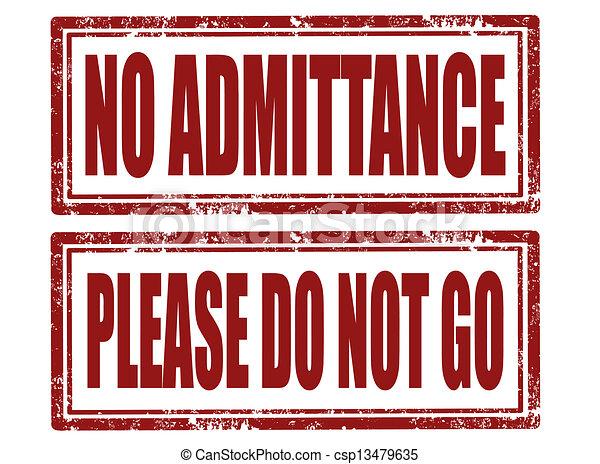 Sin sello de admisión - csp13479635