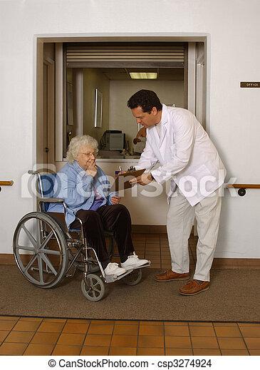 Admitting Senior To Facility Orderly Admitting Senior To Stock