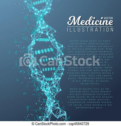 Adn Spiral Médico Molécula Vector Estructura