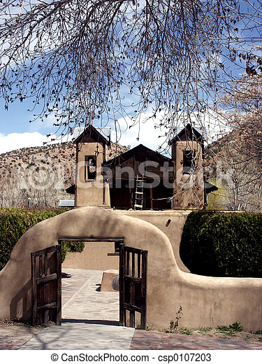 adobe, église - csp0107203