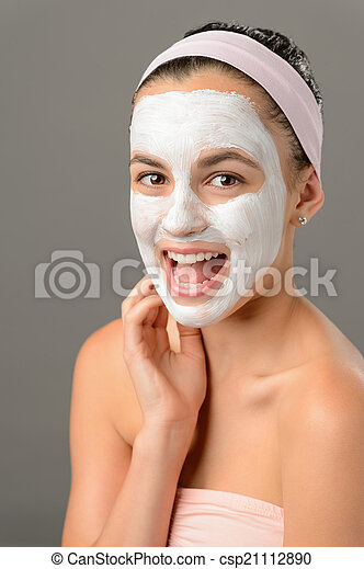 blanc masque facial