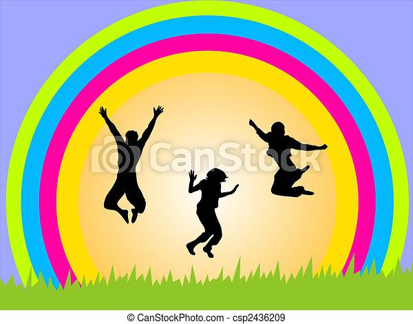 adolescent, heureux - csp2436209