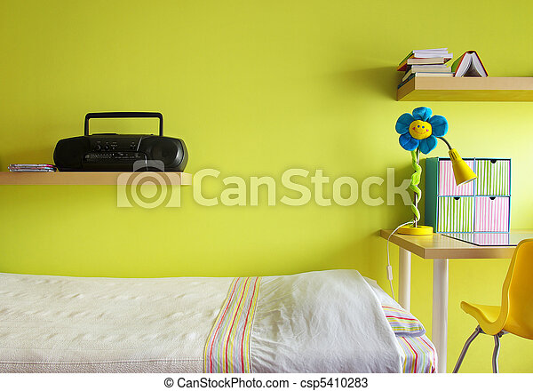 adolescente, camera letto - csp5410283
