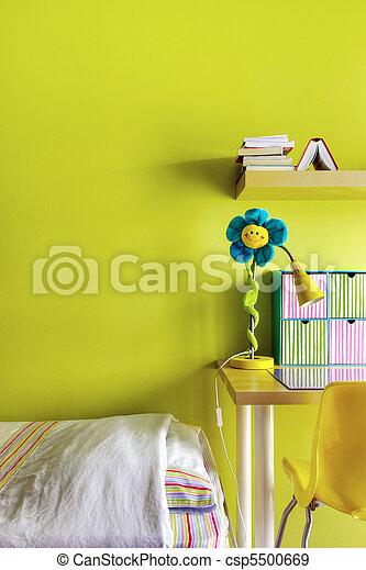 adolescente, camera letto - csp5500669