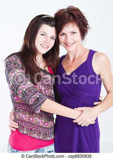 adolescente, mezzo, ragazza, invecchiato, madre - csp6830939