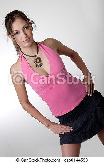 adolescente, moda - csp0144593