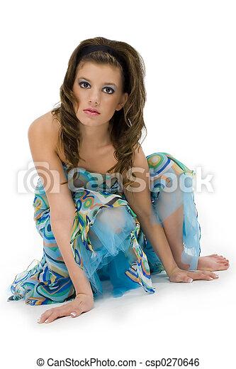 adolescente, mujer, formal - csp0270646