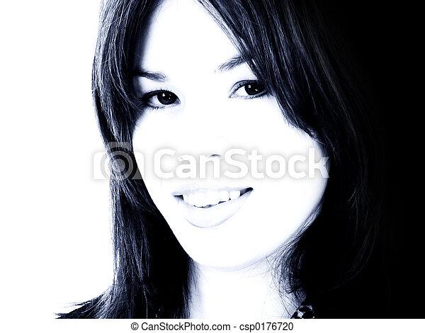 adolescente, mujer hispana - csp0176720