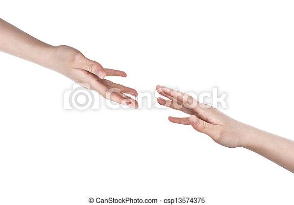 adolescente, porzione, femmina porge - csp13574375