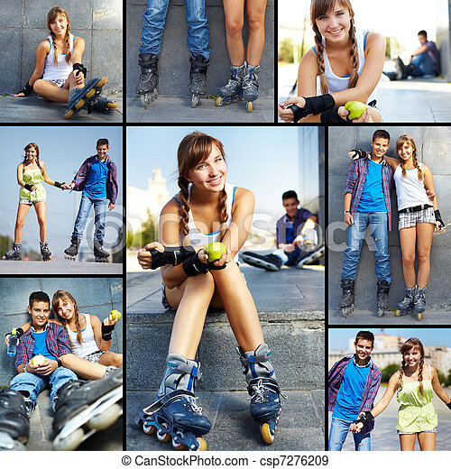adolescentes, lazer - csp7276209