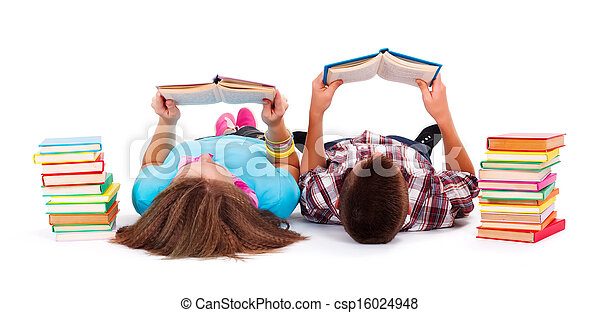 adolescentes, lectura, libros - csp16024948