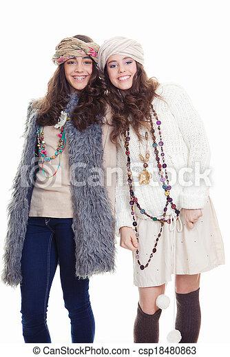Adolescentes accesorios de moda - csp18480863