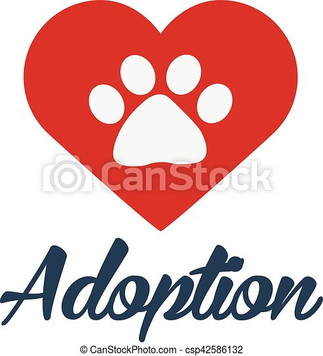 adopt logo dont shop adopt adoption concept vector illustration rh canstockphoto com dog adoption clipart adoption clipart