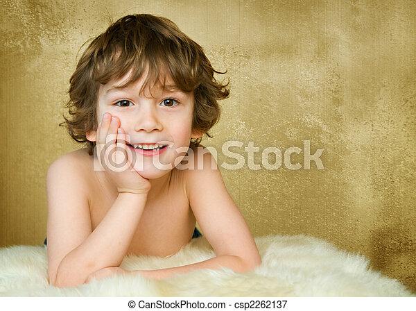 adorable 5 year old boy - csp2262137