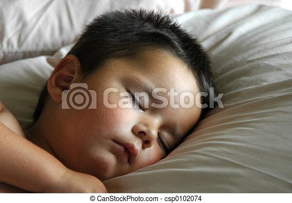 Adorable Baby Boy Sleeping - csp0102074