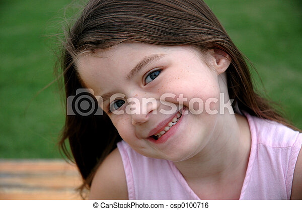 Adorable Five Year Old Girl - csp0100716