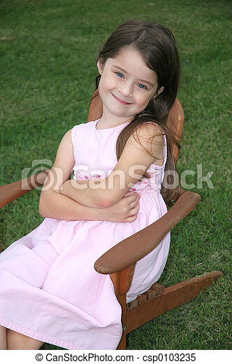 Adorable Five Year Old Girl - csp0103235