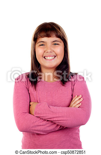 Adorable girl with eleven years old - csp50872851
