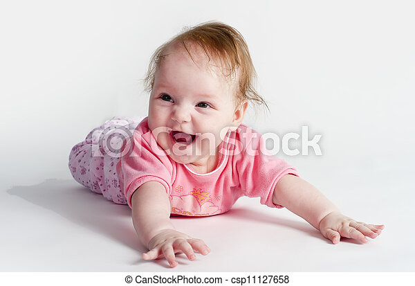 adorable little baby girl - csp11127658