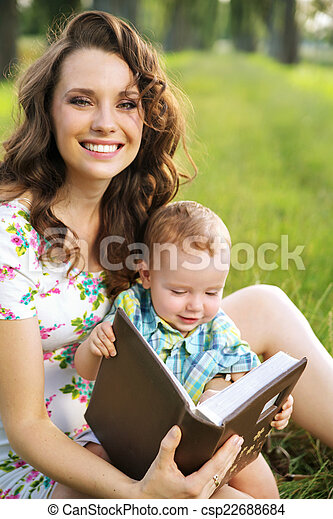 Adorable mom with cute child - csp22688684