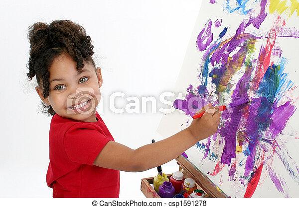 Adorable Painter - csp1591278