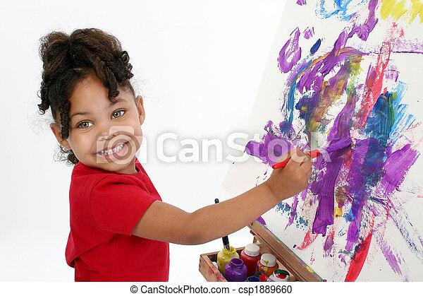Adorable Painter - csp1889660