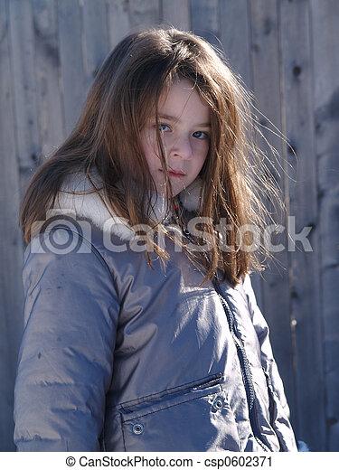 Adorable Snow Girl - csp0602371