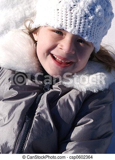 Adorable Snow Girl - csp0602364