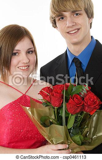 Adorable Teen Couple - csp0461113