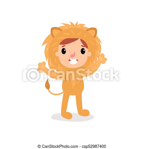 Adorable toddler in lion costume. Little king of jungle standing with hands up. Children  sc 1 st  Can Stock Photo & Lion costume. Cute child in lion costume.