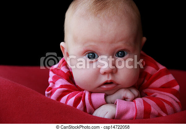 adorable two month girl - csp14722058