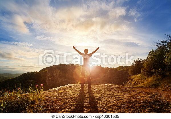 adoración, alabanza - csp40301535