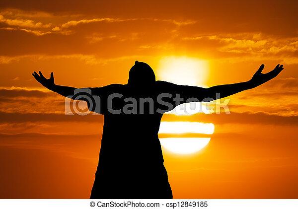 adoración, hombre - csp12849185