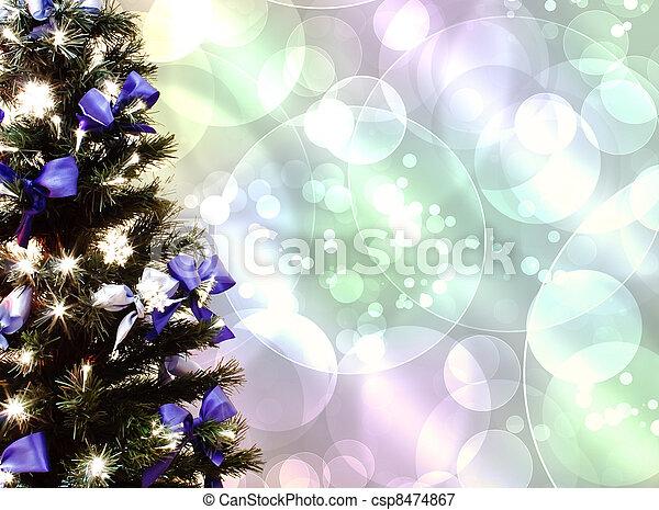 Árbol de Navidad decorado - csp8474867