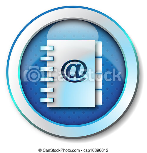 Adress book e-mail icon - csp10896812