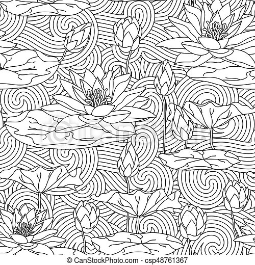 Adult antistress coloring page. - csp48761367