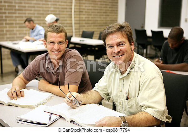 Adult Ed Students in Class - csp0817794