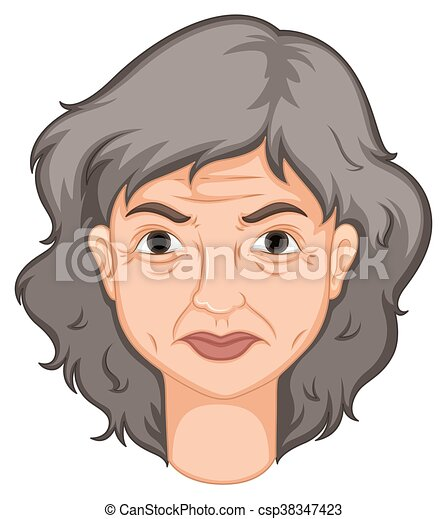 Adult woman with aged skin - csp38347423